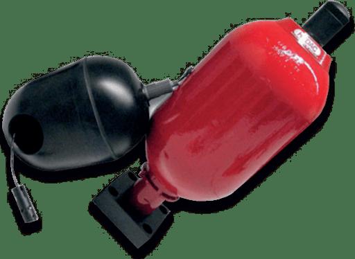 جذب نوسان یا در اصطلاح پالسهای سیستم به کمک لاستیک آکومولاتور